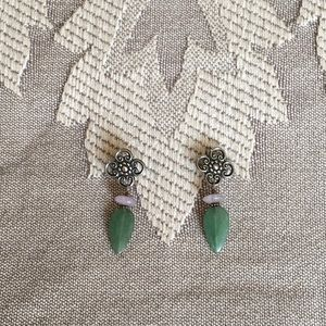 Sterling Silver and Natural Stone Post Earrings